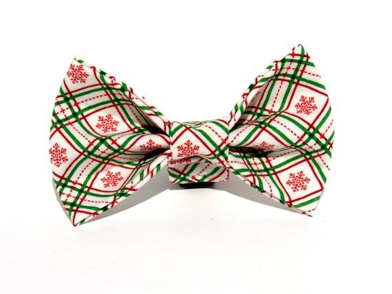 Christmas Bow Tie, Plaid Christmas Dog Bow Tie, Dog Bow Tie, Bowtie, Christmas Bow, Doggy Bowtie