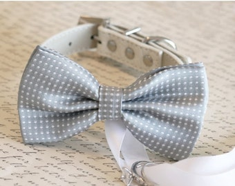 Gray Dog Bow Tie, Dog ring bearer, Pet Wedding accessory, Gray wedding accessory,Proposal idea, Cute