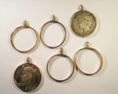6 Goldplated Eisenhower Dollar Liberty Dollar Coin Bezels Coin Holders
