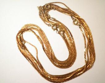 "12 Brass 15"" Flat Cut Chains"