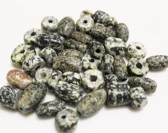 Mali Dogon Granite Beads, African Beads, Old Ethnic Beads (S97)