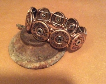 Steampunk braclet with Bullet Shell Charms