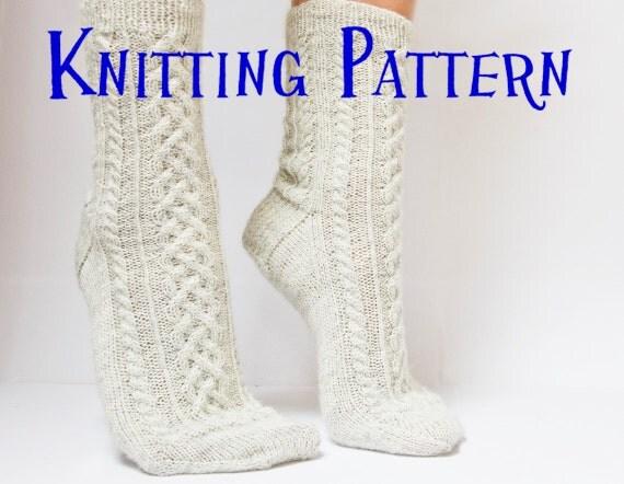 Knitting Pattern Women s Socks : Instant Download PDF Knitting Pattern Cove Socks Womens