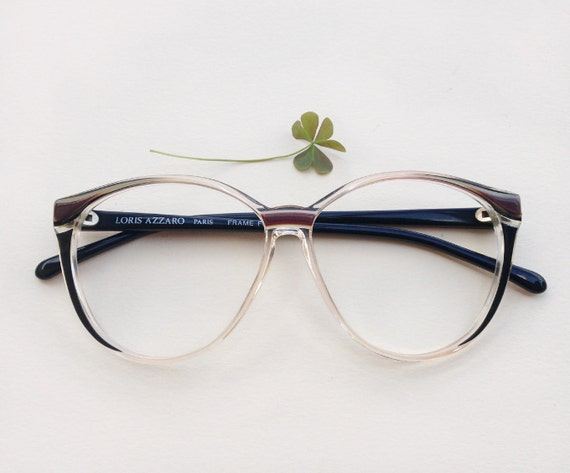 Frame Of Glasses In French : Loris Azzaro Paris eye glasses Frame / 80s hipster eyeglasses