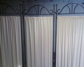 Vintage Wrought Iron Room Divider Screen RESERVED for Donna