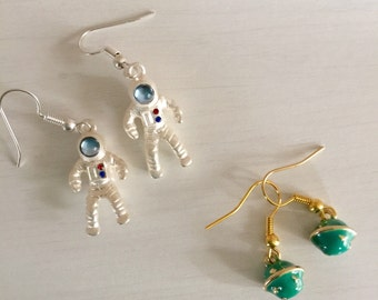 Astronut and Planet Earrings