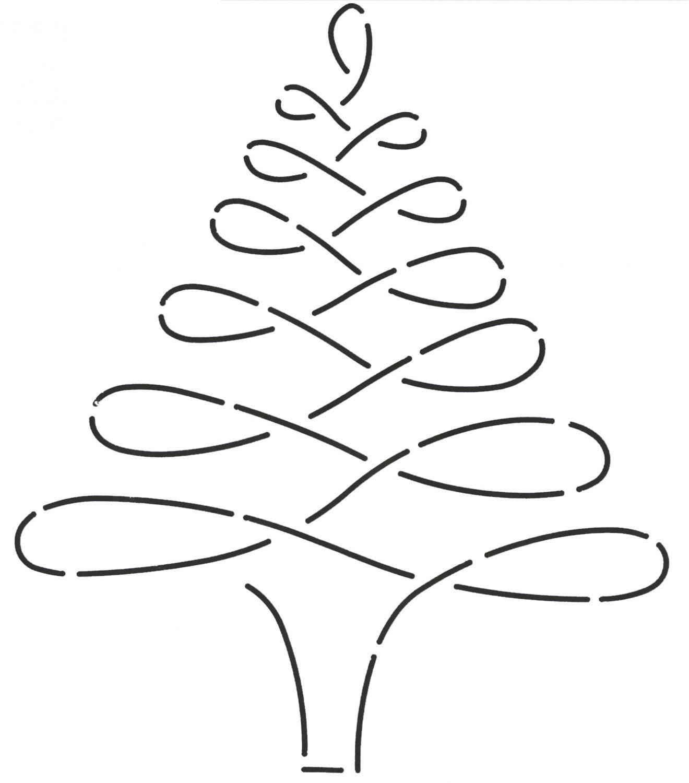 Christmas Tree Stencils: NOTION-Stencil: Christmas Tree Quilt Stencil 895QC