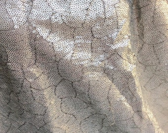 Silver sequins fabric C30-114