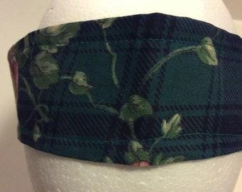 Green Plaid Headband