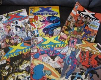 Marvel comics X-Factor  Set of  6  Very good no bending or tears