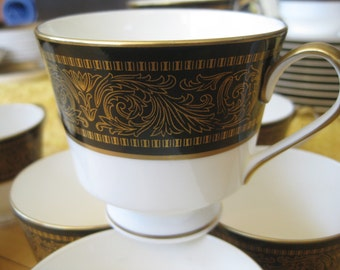 Mikasa Mount Holyoke Teacups  Set of 4  included Very Good Rare and beautiful Three sets of 4 available. use quantity (3)