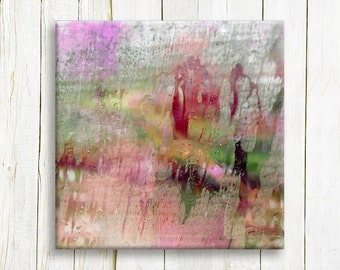 Red Abstract art print on canvas - Red Abstract canvas art - Home decor - Wedding gift idea