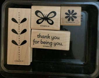 Retired Stampin'Up stamp set Bold Blossoms