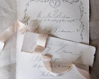 Vintage Inspired Wedding Invite with Envelopes