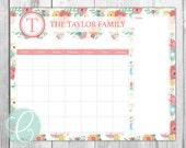 Family Calendar - Printable 16x20 Dry Erase Calendar