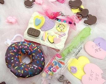 Hand Mirror Gift Set Cake Donut Harajuku Frosting Desk Mirror #5