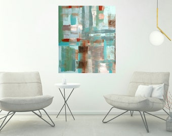 Abstract painting, original modern abstract painting on canvas, large abstract painting 30 x 36, home decor, wall art, artwork