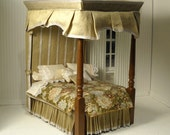 One-of-a-kind Canopy bed in 1:12 scale