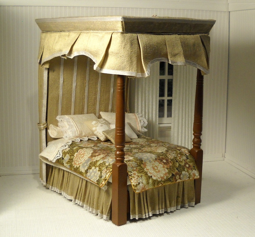 One Of A Kind Canopy Bed In 1 12 Scale By Janetharvie On Etsy