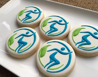 Custom business logo cookies