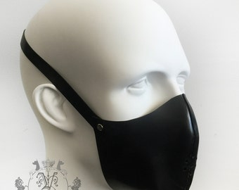 Mens Latex Rubber Muzzle Face Mask Halloween By Vex Latex