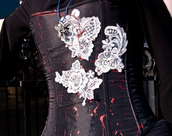 """""""Erszébeth"""" Dark Goth Vampire corset"""