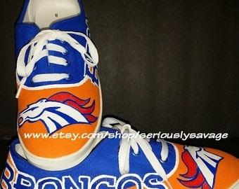 GENERIC brand Custom painted football shoes Broncos Patriots Raiders Cowboys 49rs Giants Vikings OU Jets Chargers Saints Rams Eagles Ravens