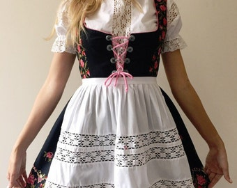 Authentic Vintage German Dirndl 3 Piece Set