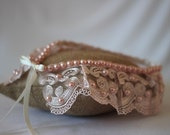 Pink guipure Lace detachable collar decorated with pearls,Collar Necklace,Boho Collar,Victorian Collar,Boho ,Victorian Accessory