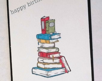 Library Card, Librarian, Book Lover, Dewey Decimal, Card for Librarian, Reader, Birthday,  Books, School Librarian
