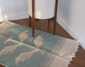 Vintage Wool Rug - Small Wool Accent Rug