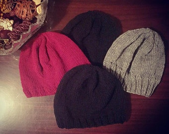 Knitted Satin-lined Beanie