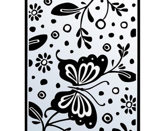 SPRING BUTTERFLY  EMBOSSING FOLDeR  - A2  IMPoRTED Embossing Folder - Cute Card Maker for Weddings, Valentines
