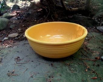 vintage FIESTA yellow promotional salad bowl 1940-43