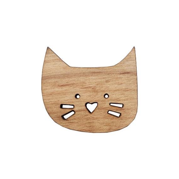 ANIMAL | Cute Cat Face Brooch Pin