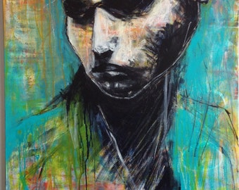 Abstract Black and White Art/ Painting Portrait