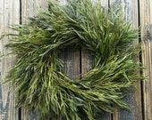 Wreath -  Dried Flower Wreath  -  Kiwi Eucalyptus Wreath