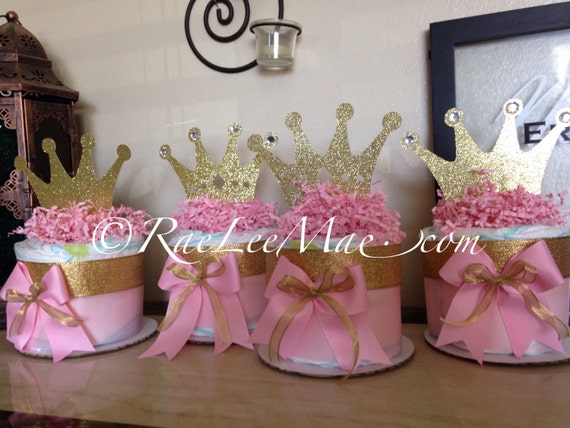 6 princess or prince diapercake package prince baby shower for Baby shower decoration packages