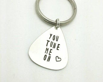 You Tune Me On Guitar Pick, Gift for Him, Gift for Boyfriend, Gift for Husband