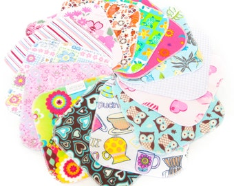Clearance - 12 Cloth Wipes ASSORTED - Cotton Velour - Flannel - Terry - Baby Washcloths - Diaper - Dozen - Reusable Wet Wipes - Seconds