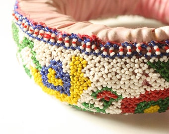 Hand beaded Tribal Indhoni Head ring or Water carrying cushion