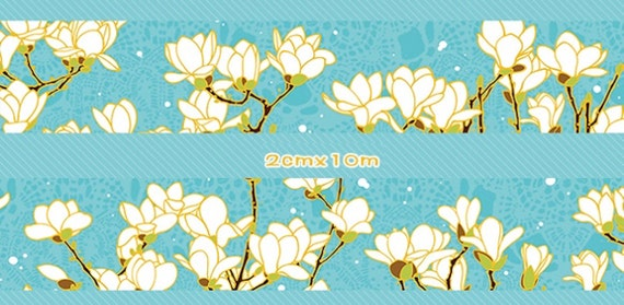 1 Roll of Limited Edition Washi Tape: Magnolia