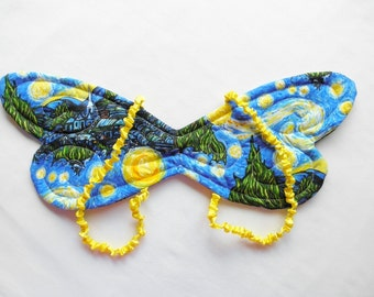 Children's Wearable Washable Fairy Wings, Starry Night Van Gogh