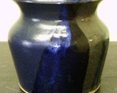Vase in Black,Blue Red and Purple Glaze...