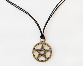 Pentagram necklace, men's necklace, men's jewelry, gift for men, valentines day gift, boyfriend gift, gift for him, spiritual jewelry