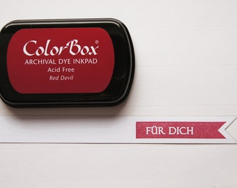 Red ink stamp pads archival ink ColorBox