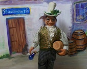 Completely handmade art doll Publican/Tavern owner Terence Tickseed Magical Elf