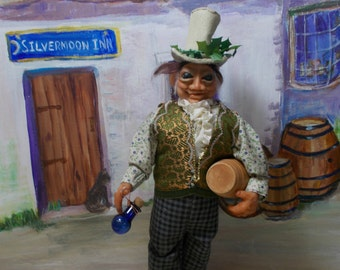 """Completely handmade art doll Publican/Tavern/downright boozer owner """"Terry Tickseed"""""""