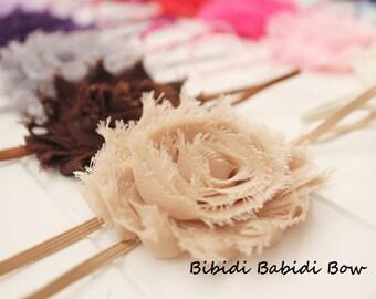 Headband - Set of 8 - baby girl headband - baby shower gift - toddler headband - infant headband- shabby chic flower- Birthday gift -