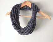 Gray Scarf Necklace . Mid...